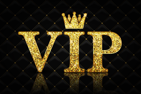 gold textured background: Vector VIP icon Illustration
