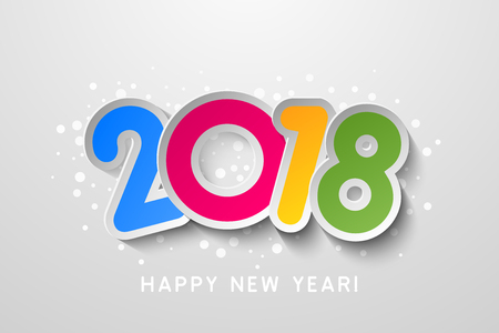 Vector 2018 Happy New Year colorful background
