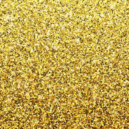 Vector gold background with glitter