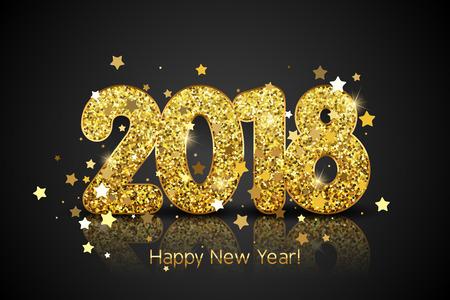 Golden Happy New Year 2018