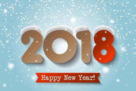 2018 Happy New Year design