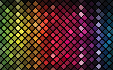 Abstract mosaic with colorful lights