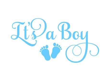 It's a Boy inscription