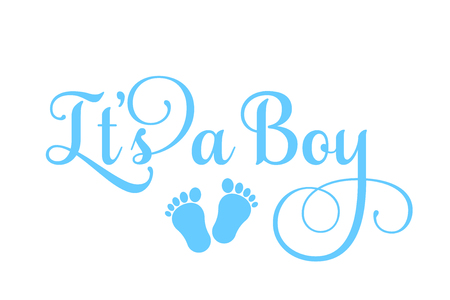 Its a Boy inscription