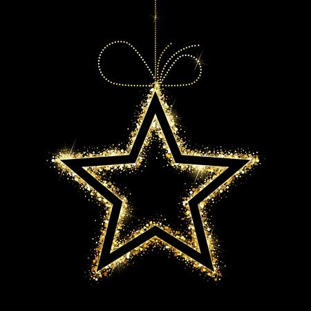 Gold star Ilustração