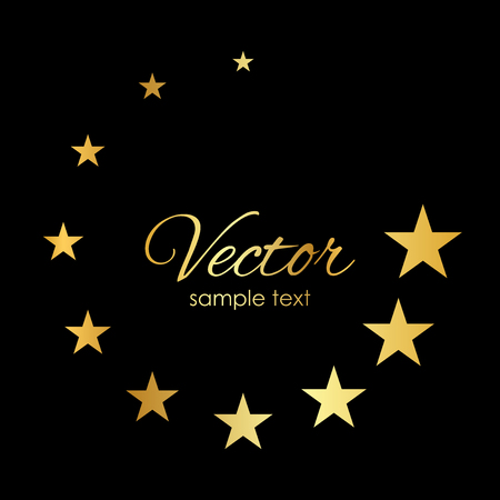 Illustration gold stars Vectores