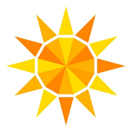 Sun geometric icon