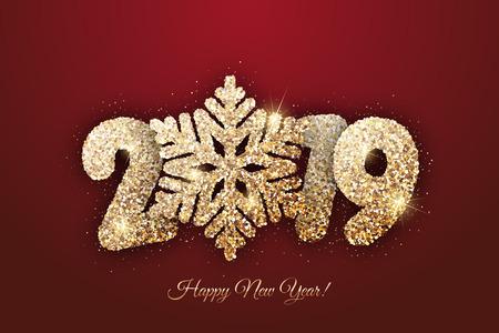 Vector New Year card -