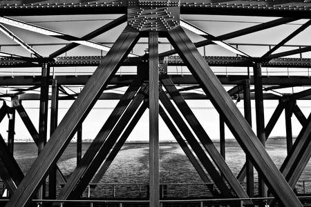 framework: Bridge Construction. Metal Framework Of The Bridge Stock Photo