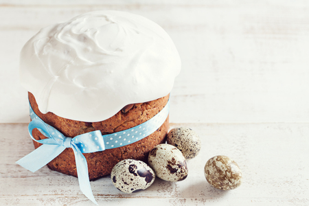 Easter cake (kulich) on white background