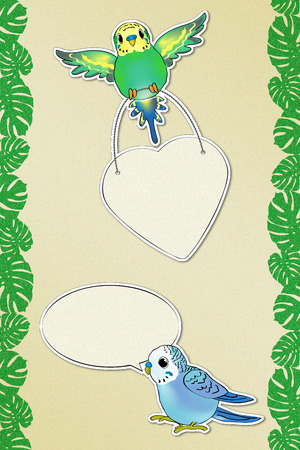 Funny Budgies Messages 2 (includs the Path) photo