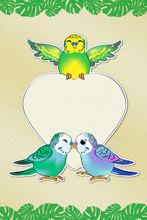 Budgies Love Message (includs the Path) photo