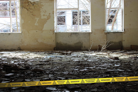 chernobyl: Inside of the deserted School in Chernobyl Zone. Ukraine