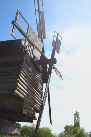 afield: Sails of the old wooden Windmill