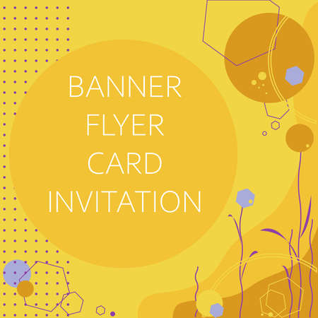 vector abstract background for invitations cards flyers banners booklets notebooks covers in trendy colors: purple yellow brown blue. Square illustration with geometric shapes and elements for sales.
