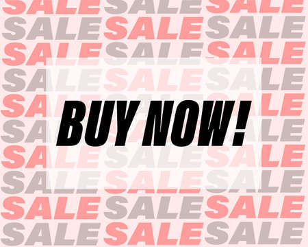 advertising banner sale - buy now. Words sale on a pink background. Suitable for the beauty and fashion industry, clothing stores, cosmetics.