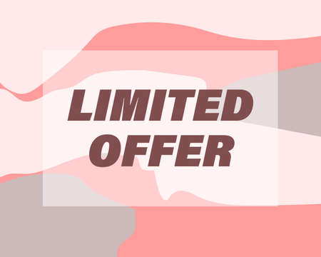 limited offer - banner for sale in Nude colors. Abstract vector illustration for the beauty industry, fashion, clothing stores.