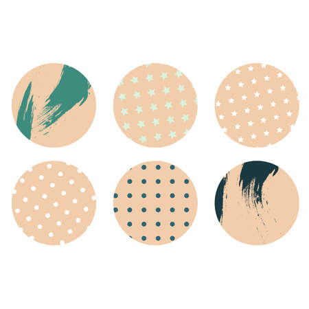 Abstract of beige round set illustration