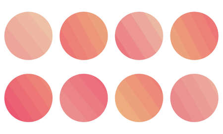 Abstract of red and pink in circle illustration.