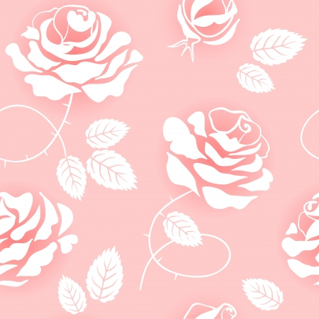 Pink roses on a pink background Vector