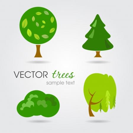 그린 나무 그림 일러스트