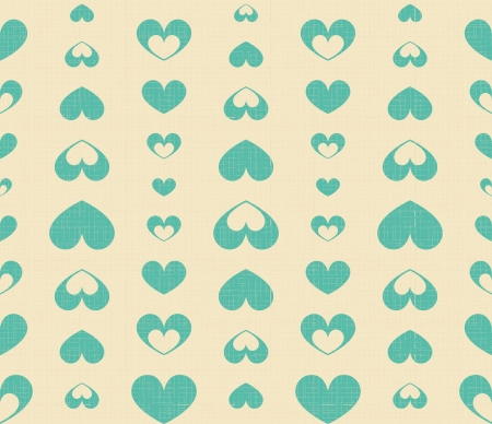 Blue hearts on a beige background Vector