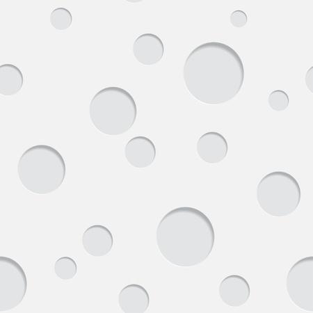 Gray circle seamless pattern with drop shadows Vector