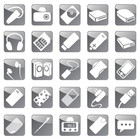 Smart devices for computers and mobile phones Vector