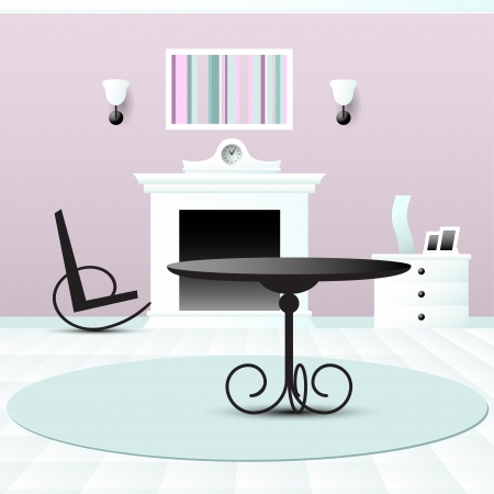 Living room decor vector illustration Vector