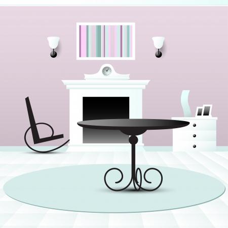 Living room decor vector illustration Stock Vector - 23239837