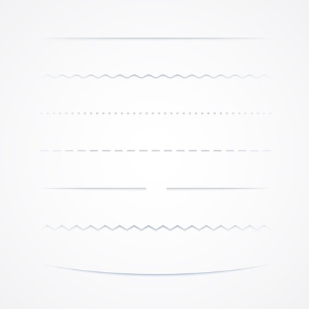 sombras: Set de divisores, Isolado No Fundo Branco, Ilustra Ilustra��o