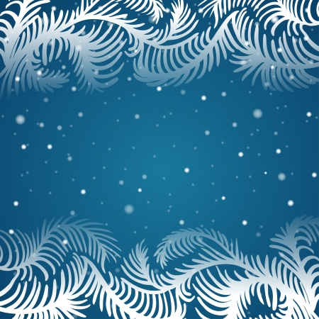 Vector frosty pattern. Christmas frame Vector