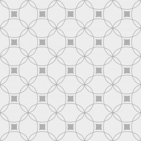 Black and white seamless geometric pattern Ilustração