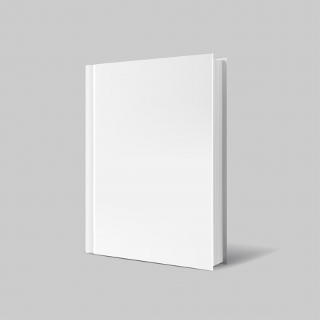 Blank book cover over gray Imagens - 25320137