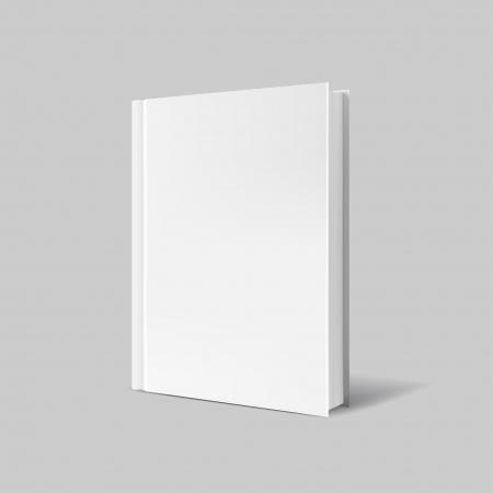 Couverture du livre blanc sur gris Banque d'images - 25320137
