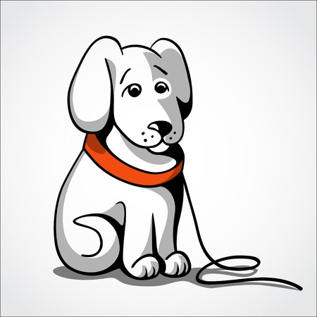 Lost sad dog vector illustration Vector