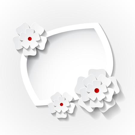 종이 꽃과 프레임