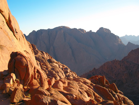 sinai: View from the top of Sinai mountain, Egypt