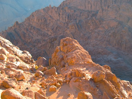 시나이 산, 이집트의 상단에서보기 스톡 콘텐츠