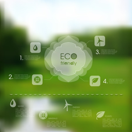 Vector natural template for eco website. Editable background Vector