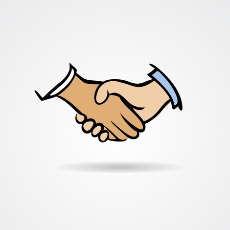 Handshake sketch symbol. Vector illustration on a white background Vector