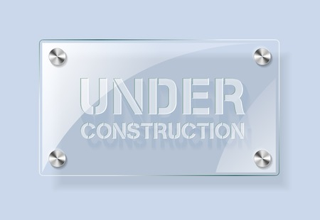 under construction: Under Construction - glass plate background. Easy editable background color Illustration