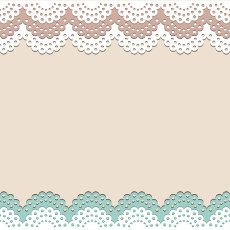 Seamless lace background Vector