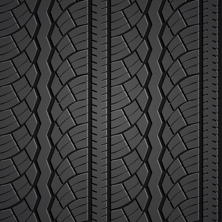 Wheel tire seamless pattern. Vector realistic illustration Vector
