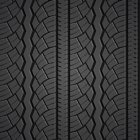 Wheel tire seamless pattern. Vector realistic illustration Ilustração