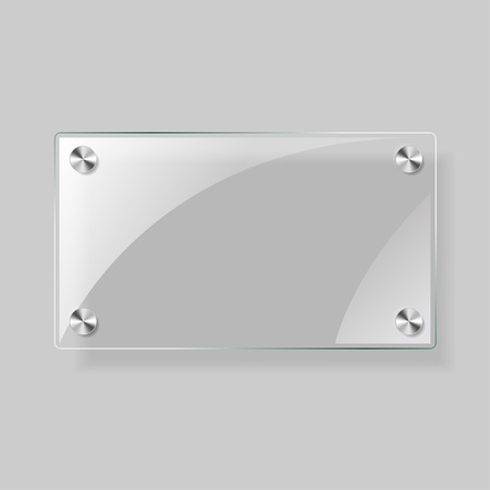 opaque: Glass rectangle  plane Illustration