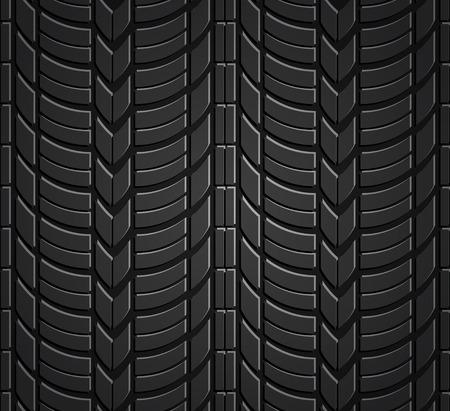 Wheel tire seamless pattern Vector