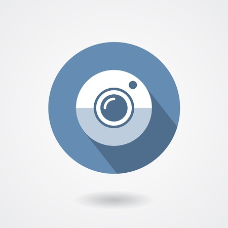 digital photo camera: Web camera icon isolated on a white background
