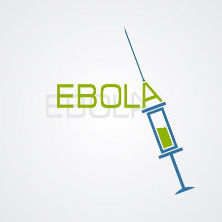 viral infection: Syringe Ebola antivirus concept