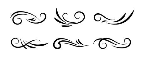 swirl: Swirl decoration elements isolated on white background.